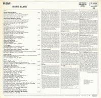 ELVIS PRESLEY Rare Elvis Vinyl Record LP RCA Victor 1980